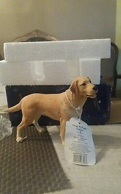 Border Fine Arts  MIB New Yellow Labrador Figurine Standing Dogs and Pups Galore