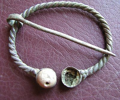 Authentic Ancient Lake Ladoga VIKING Artifact > Fibula Brooch  K11