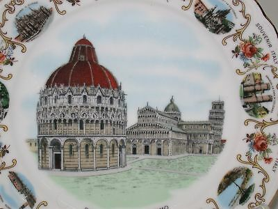 """Collectible Souvenir Plate from Italy Gold Trim ~ Piazza Del Duomo ~ 7.5"""""""