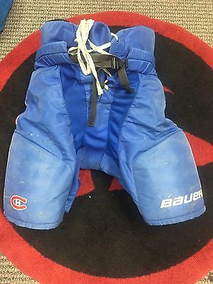 Game Worn NHL Pro Stock Bauer hockey Pants Montreal Canadiens L Made Canada f75199a92