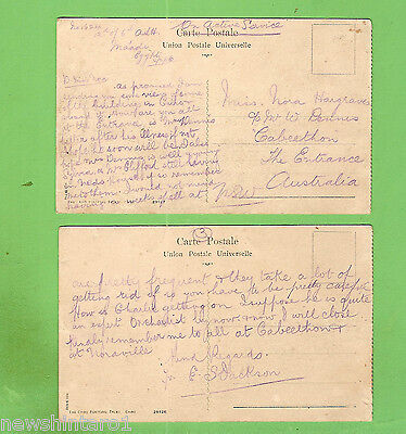 #n.  Two 1916 Postcards - On Active Service, Cairo To The Entrance, Nsw