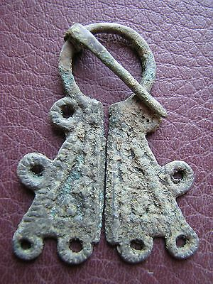 Authentic Ancient Lake Ladoga VIKING Artifact > Fibula Brooch  K10