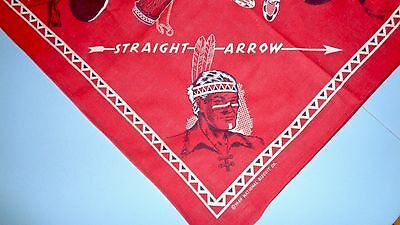 Vintage 1949 Straight Arrow Western Cowboy Red Bandana Scarf Nabisco Cereal