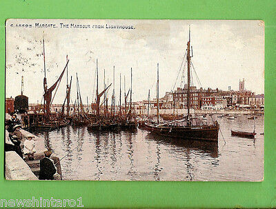 #n.  1919  Postcard -   Boats In Margate  Harbour