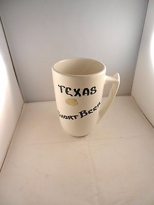 "Vintage Camark Pottery Large Texas Short Beer Mug 7"" Tall / 7"" Wide - Sticker"
