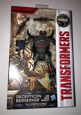 Transformers The Last Knight Premier Edition Decepticon Berserker Deluxe Class