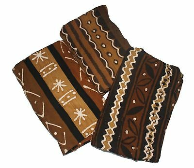 "Authentic Bambara Mudcloth 63"" x 45"" Fabric African Mali Mud Cloth - Template"