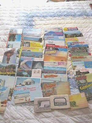 Vintage Lot of 40 USA and International Postcard Booklets/Folder Exc. Condition