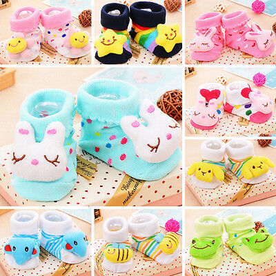 New Baby Girl Boy Anti-slip Socks Cartoon Newborn Slipper Shoes Boots 0-6 Months