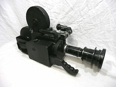 Cinema Products CP-16mm Camera MITCHELL 16mm Cine film magazine P Angenieux lens