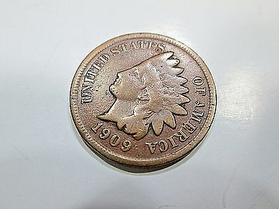 1909 S Key Date Indian Head Cent Copper Penny San Francisco Mint Coin