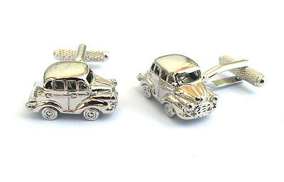 Silver Finish Morris Minor Classic Car Cufflinks  in Cufflink Gift Box  23483
