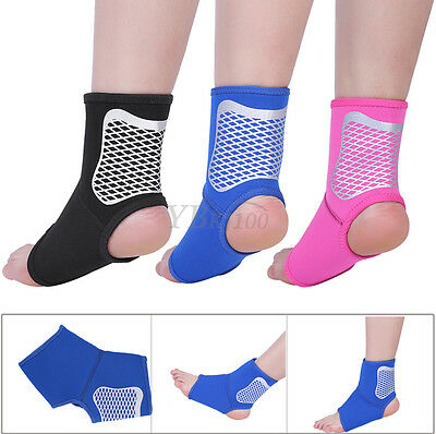 Nylon Adjustable Ankle Foot Support Elastic Brace Guard Football Basketball M/L