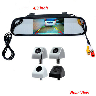"4.3"" Car TFT LCD Monitor Mirror + HD CCD Reverse Rear View Backup Camera Kit"