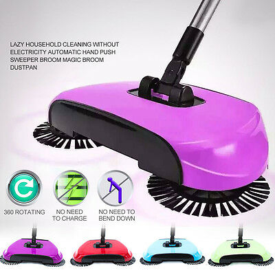 Easy Hand Push Floor Sweeper Broom Lazy Household Automatic Intelligent Cleaner