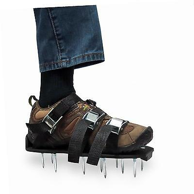 ZDTech Lawn Aerator Shoes Heavy Duty Spiked Sandals Metal Buckles