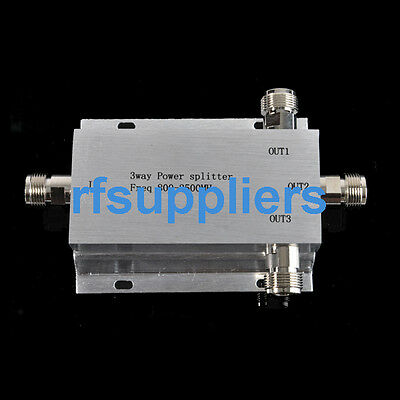 800-2500MHz 3-way Power Divider splitter with N female connector 50ohm