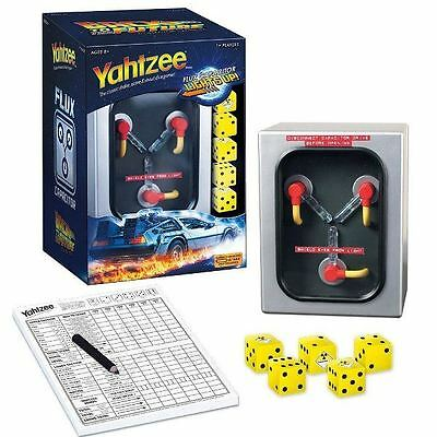 Yahtzee: Back to the Future - Flux Capacitor Time Travel Film Dice Game New