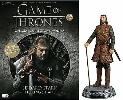 Game of Thrones Official Collectors Models Eddard Stark #R26 - Issue 27 Free p&p