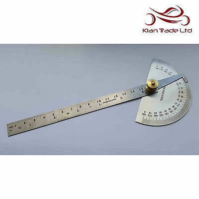 Protractor 0-180° Degree Universal Adjustable Level Measure Measuring Tool