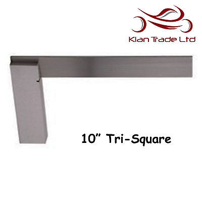 "10"" inch 250mm Try Square 90  angle Unmarked Tri Top Quality Wood Carpenter Tool"