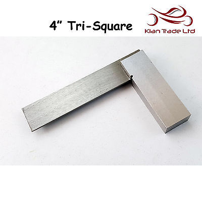 "4"" inch 100mm Try Square Unmarked Tri 90 Angle Top Quality Wood Carpenter Tool"