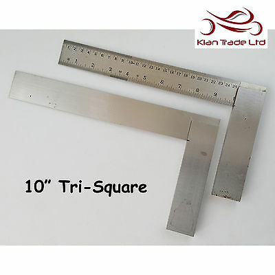 "Tri Square 10"" inch 250mm Graduated Marked Try  Top Quality Wood Carpentry Tool"
