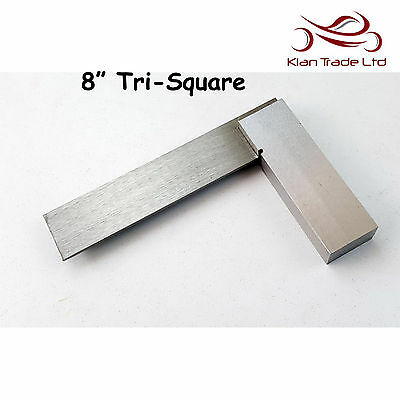 "8"" inch 200mm Try Square Unmarked Tri 90 Angle Top Quality Wood Carpenter Tool"