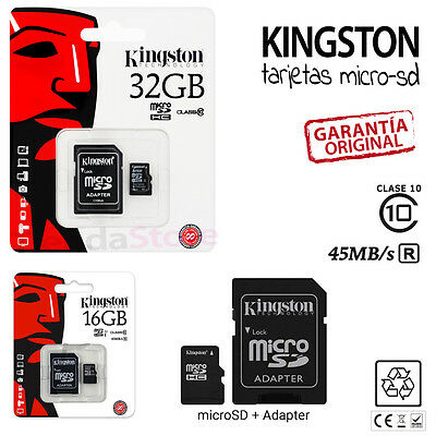 Tarjeta Memoria Kingston Clase 10 Microsd Micro Sd Gb 16 32 16Gb 32Gb