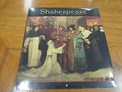 Shakespeare 2017 Wall Calendar, New And Sealed