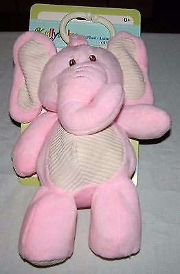 Kellybaby Plush Animal w/Rattle Clip-On Pram Toy New/Ages: 0+ Months
