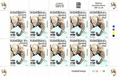 Namibia 1997 Definitives Overprinted 2005 Sg999 Sheetlet Of 10 Mnh