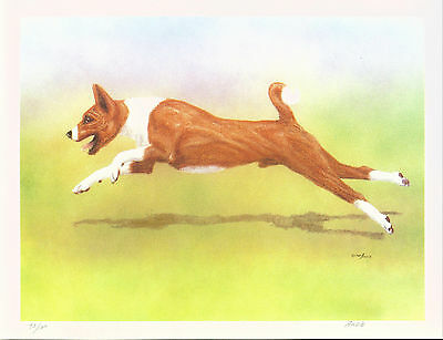 Dog Print Basenji Dog Artist SIGNED and Numbered by ANDIE