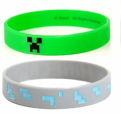 CREEPER FACE + DIAMOND |S/M| MINECRAFT | Wristband Bracelet |Officially Licensed