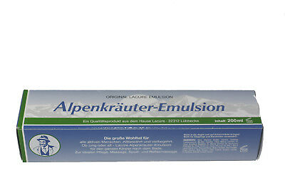 3 x Alpenkräuter Emulsion Original Lacure Emulsion 200 ml