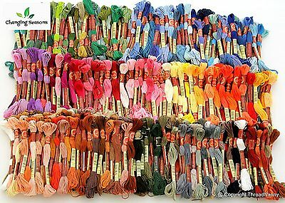 Embroidery Floss Set 447 Colors Cross Stitch Threads Skeins Full Range Of Color