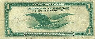 1918 $1 Federal Reserve Bank Note ~ Spread Eagle Type ~ Nice Problem-Free Grade