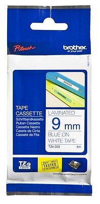Brother P-Touch Laminated tape - blue on white - Roll 18 mm x 8 m TZe-223 C3FM#