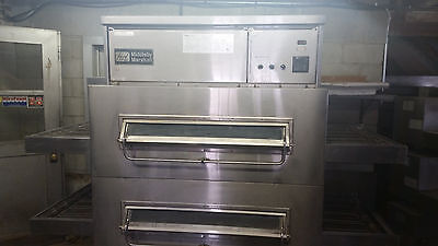 Middleby Marshall PS360Q Conveyor Double Stack Pizza Ovens Natural Gas Tested