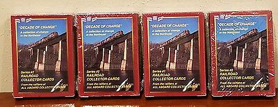 4 Sealed Decks Railroad Collector Cards Series 2 Decade of Change