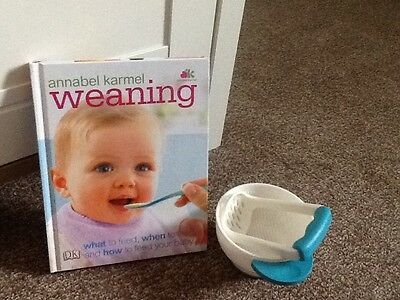 annabel karmel food masher and bowl with weaning books