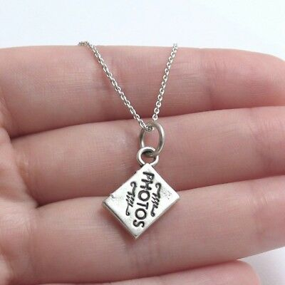 925 Sterling Silver Photo Album Charm with Necklace