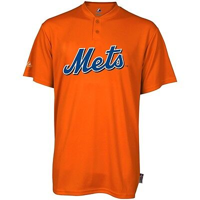 97aa69bc970 Majestic Two Button New York Mets Cool Base 2 Button Medium Youth  Jersey-Small