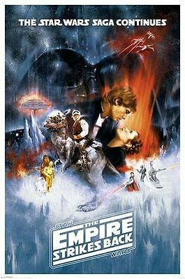 STAR WARS - THE EMPIRE STRIKES BACK POSTER (91x61cm)  NEW WALL ART