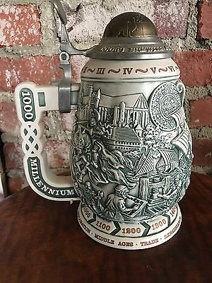 Coors Millennium Decorative Beer Steins Limited Edition Breweriana Bar Decor