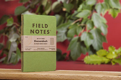 "Pack of 3 Field Notes, ""Shenandoah"" Limited Edition, Graph Ruled"