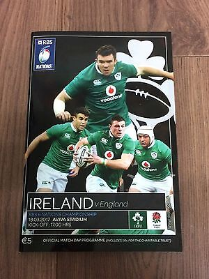 IRELAND v ENGLAND - 18/03/2017 RBS SIX NATIONS -  OFFICIAL PROGRAMME!!