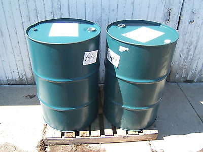 Metal drums barrels 55 gallon end in or end out trash burning LOT OF 2