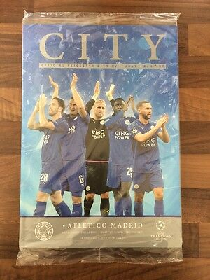 LEICESTER CITY v ATLETICO MADRID PROGRAMME -  18/04/2017 -  CHAMPIONS LEAGUE!!
