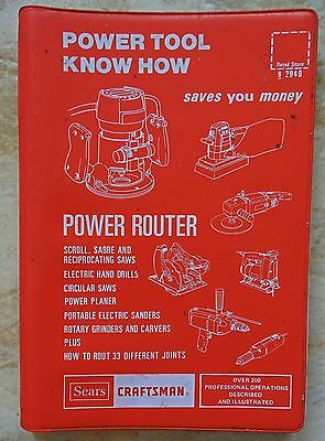 Sears Craftsman Power Tool KNow How Power Router 1977